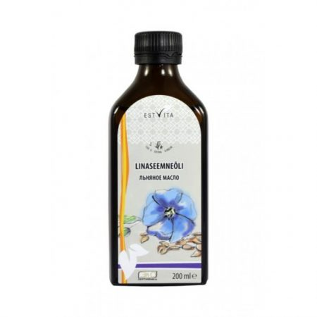 Flaxseed oil, cold pressed, 200 ml / VEGAN