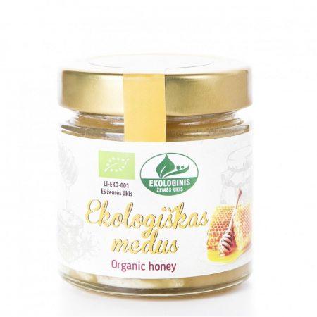Organic raw honey, 250 g, glass