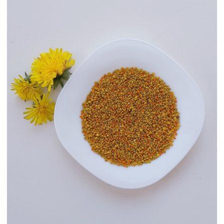 Organic raw fresh bee pollen, 100 g, glass