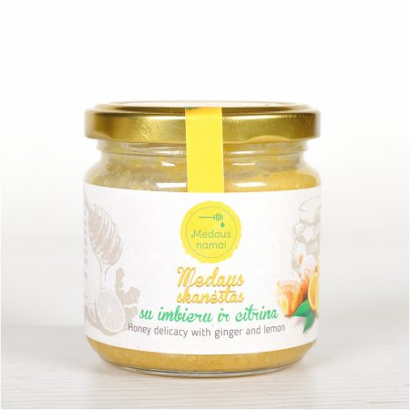 Raw honey with ginger and lemon, 200g