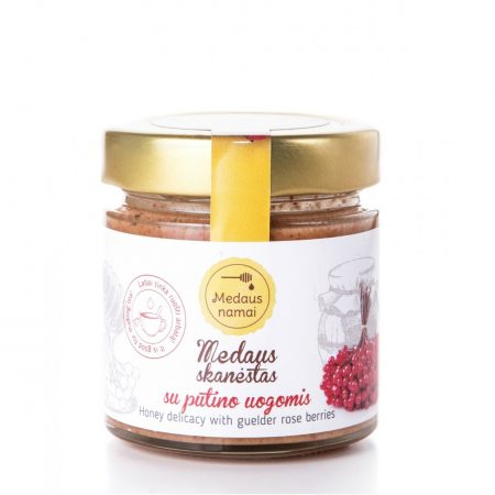 Raw honey with guelder rose berries, 200g