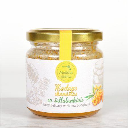 Raw honey with sea buckthorn, 200g