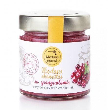 raw honey with cranberries