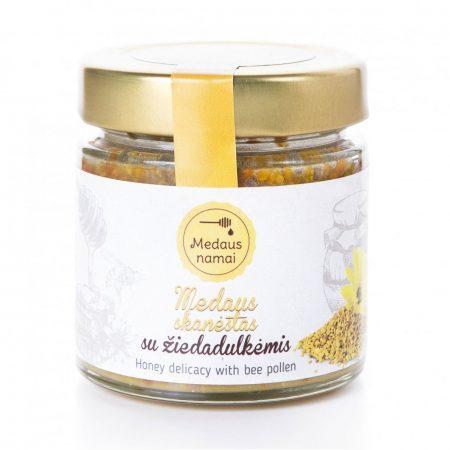 Raw honey with bee pollen, 200g
