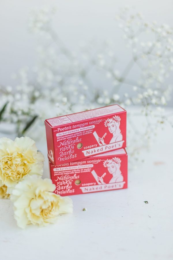 Naked Poets Hand Made Natural Soap with wisterija, 90g