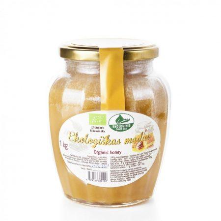 Organic raw honey, 1kg, glass